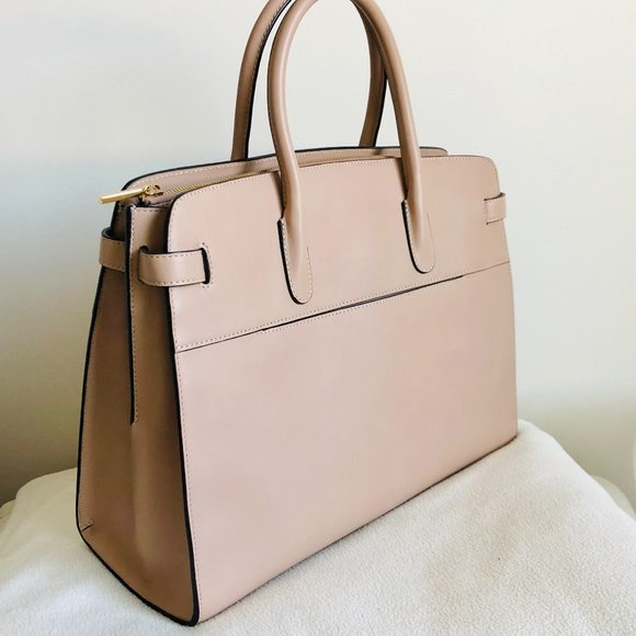 NEW Cuyana Work Satchel in Quartz Smooth Leather